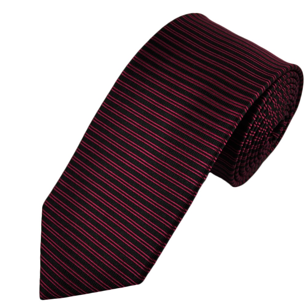 black fuchsia pink horizontal striped silk tie from ties