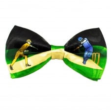 Black, Green & Yellow Cricket Novelty Bow Tie
