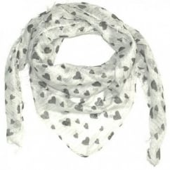 Black Hearts Square Scarf