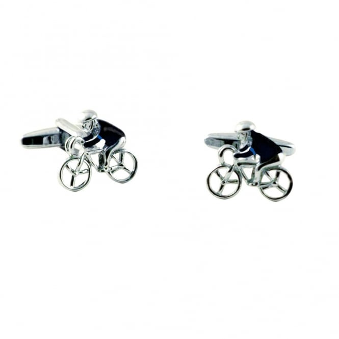 Black Jersey with Blue Arm Band Cycling Novelty Cufflinks