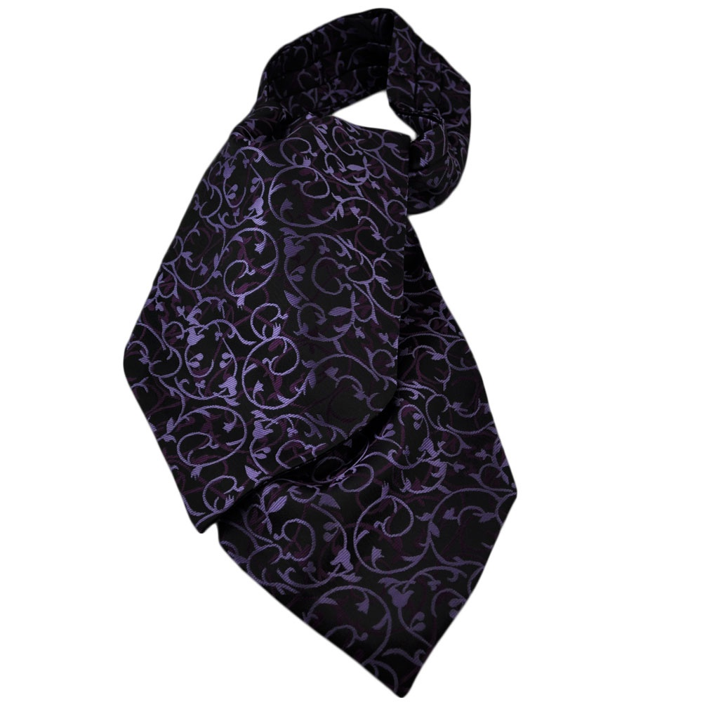 black lilac purple paisley casual day cravat from ties