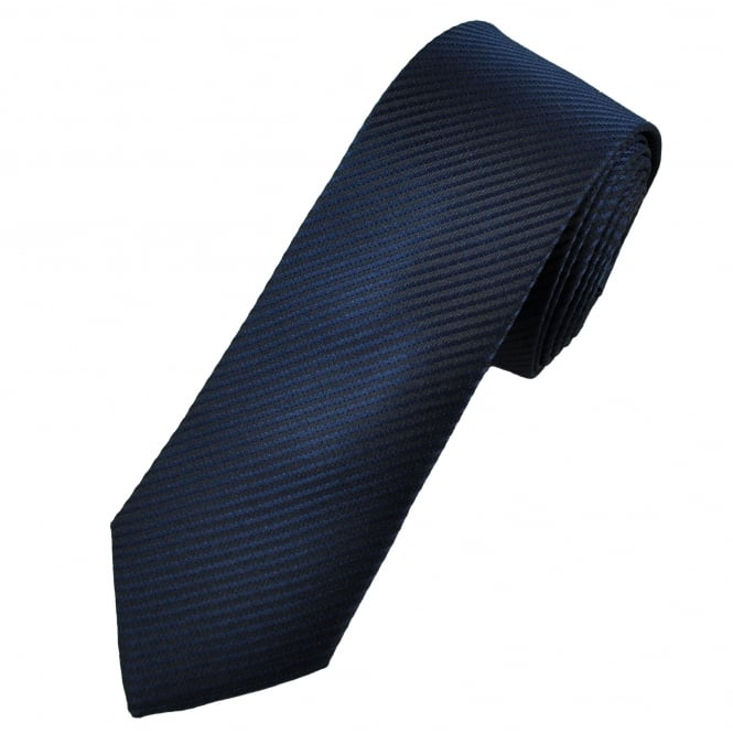 Black & Navy Striped Men's Tie