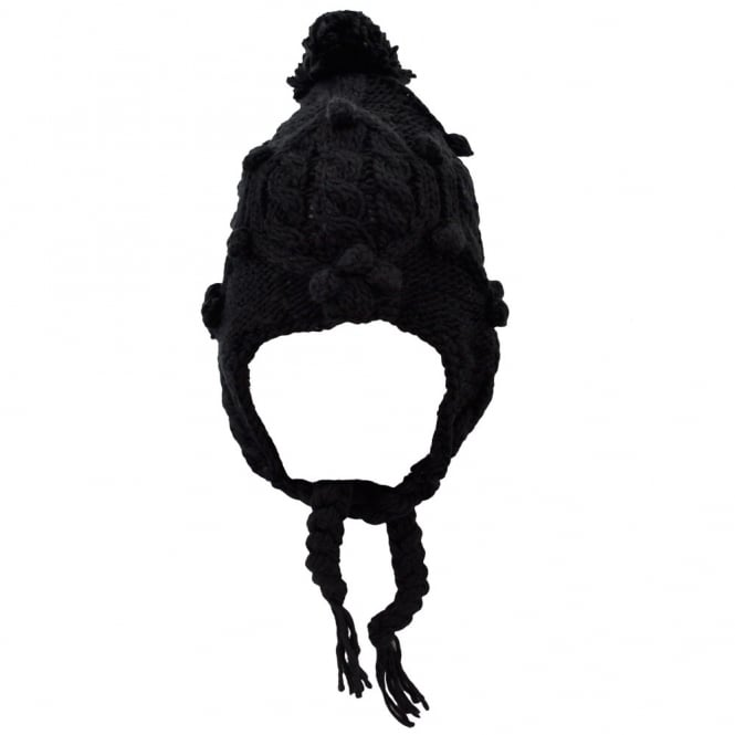 Black Peruvian Bobble Hat