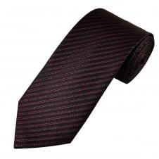 Black & Pink Lurex Striped Men's Tie