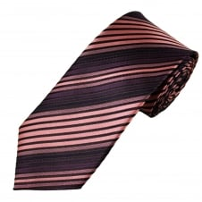 Black, Pink & Purple Striped Men's Tie