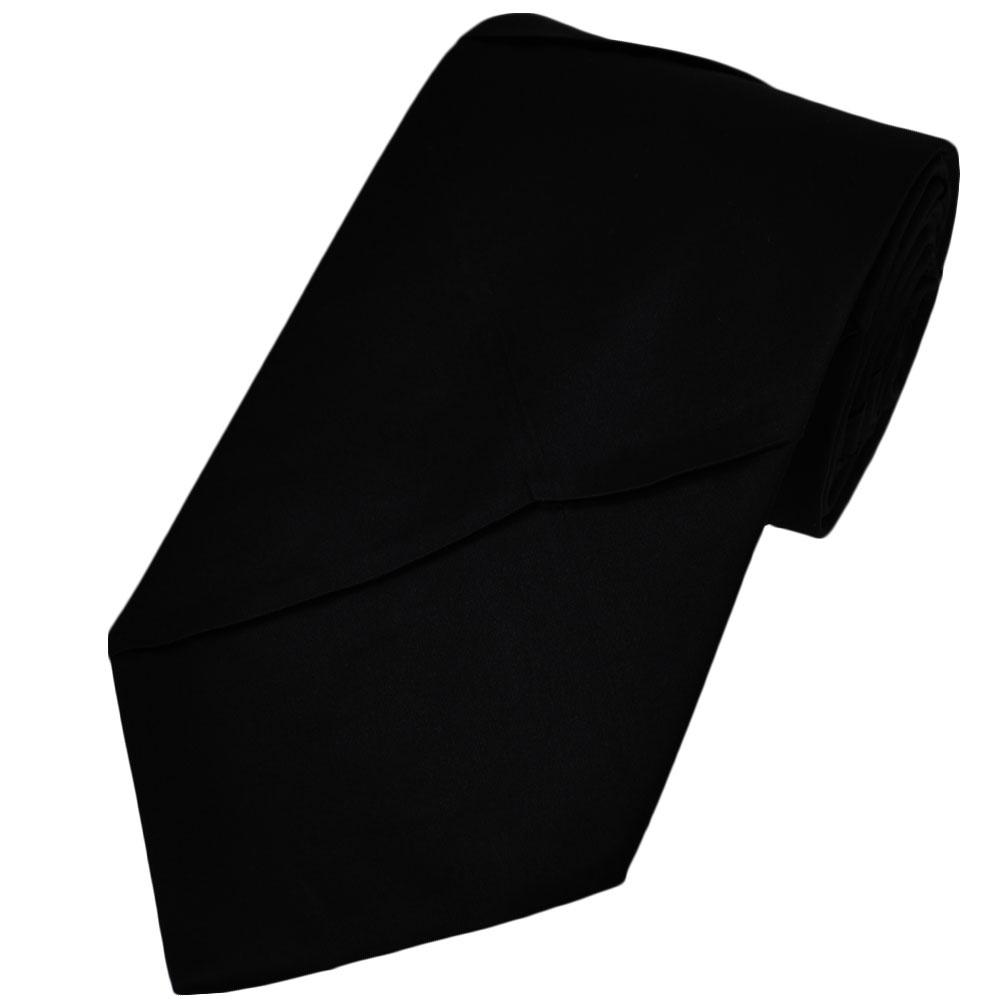 black pleated silk tie from ties planet uk