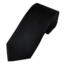 Black & Purple Lurex Polka Dot Men's Tie