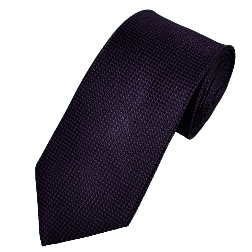 A modern update on a classic stripe design, this silk-blend necktie features a slight sheen and subtle texture. 74% silk, 26% viscose. /8 inches. Dry clean. Imported.