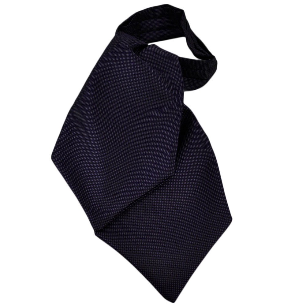 black purple micro patterned casual day cravat from ties