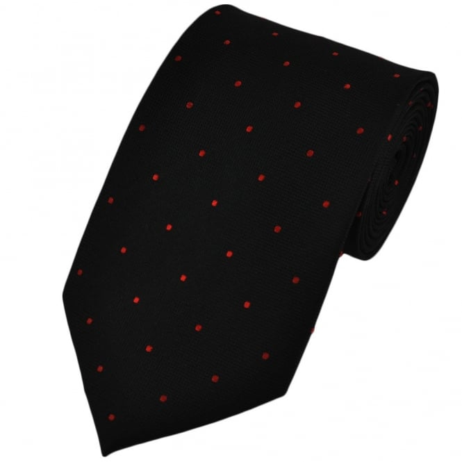 56e89ff112cb Black & Red Silk Polka Dot Tie from Ties Planet UK