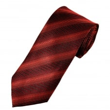 Black & Shades of Red Striped Men's Tie