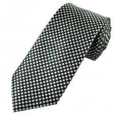Black & Silver Patterned Men's Tie