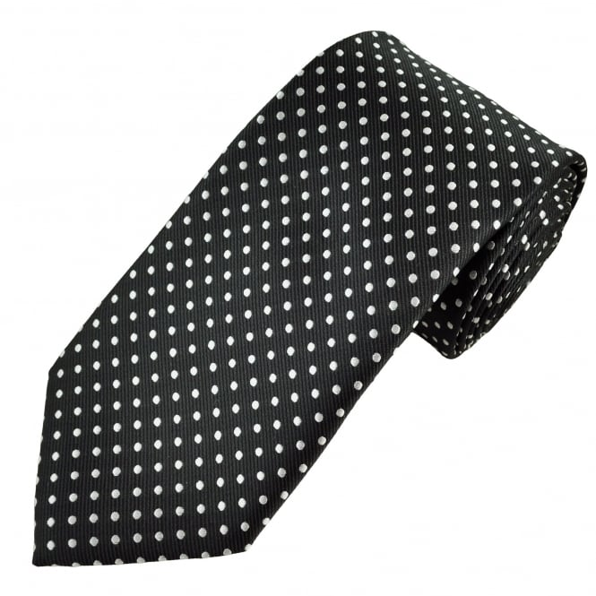 Black & Silver Polka Dot Men's Tie