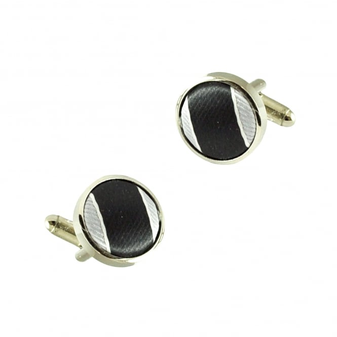 Black, Silver & White Cufflinks