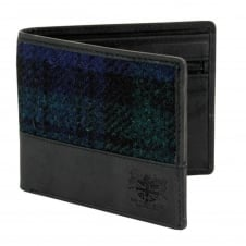 Black Watch Tartan Harris Tweed Wallet