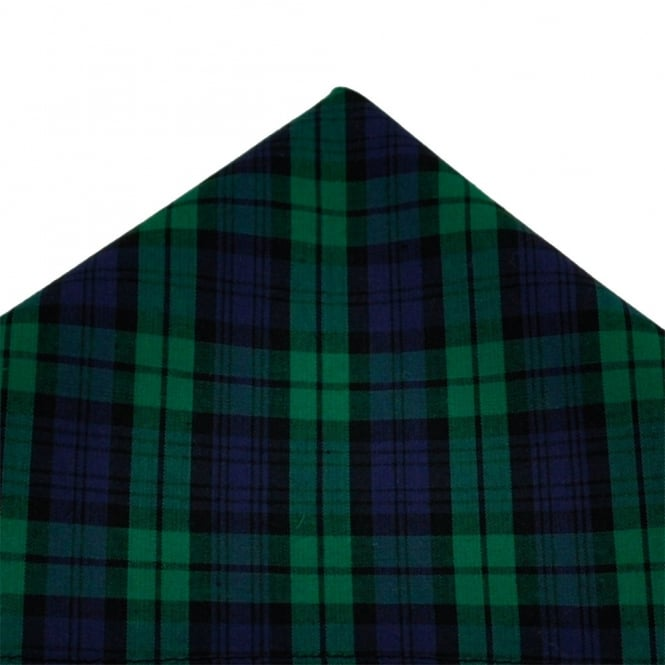 Black Watch Tartan Patterned Handkerchief by Van Buck