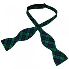 Black Watch Tartan Patterned Self Tie Bow Tie