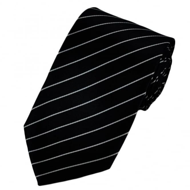 Black White Pinstripe Tie