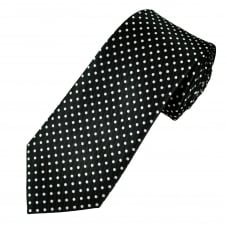 Black & White Polka Dot Men's Tie