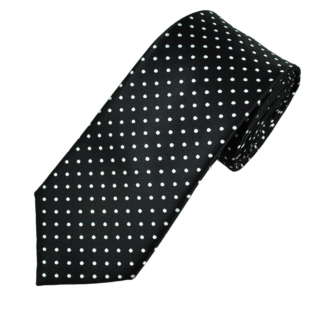 Black White Polka Dot Men 39 S Tie From Ties Planet Uk