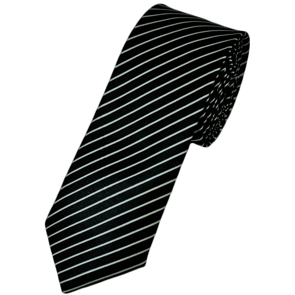 black white satin striped tie from ties planet uk