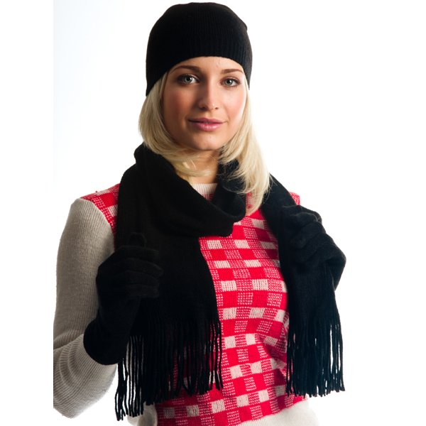black s hat scarf gloves set from ties planet uk