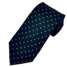 Black & Yellow Polka Dot Silk Tie