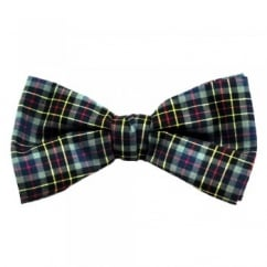 Blue, Black, Red, Yellow & Grey Checked Bow Tie
