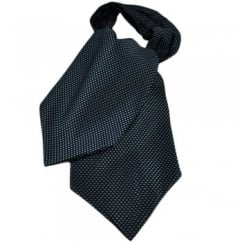 Blue & Black Weave Patterned Casual Day Cravat