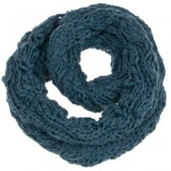 Blue Cable Queen Scarf by Lettuce of London