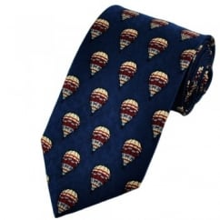 Blue Hot Air Balloon Themed Silk Tie