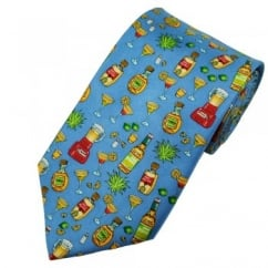 Blue Margarita Cocktail Ingredients Novelty Silk Tie