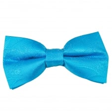 Blue Paisley Patterned Boys Bow Tie
