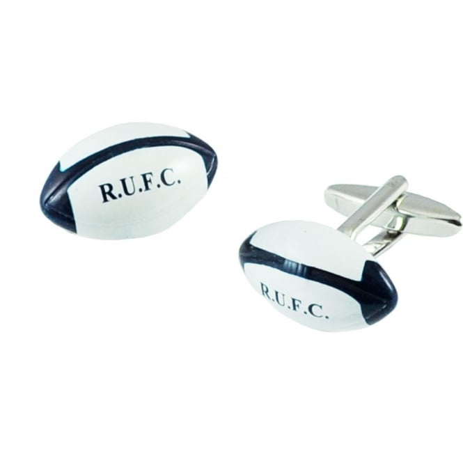 Blue Rugby Union RUFC Ball Cufflinks