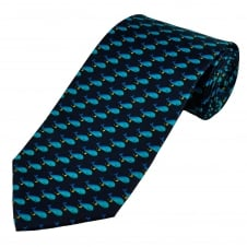 Blue Whales Men's Novelty Tie