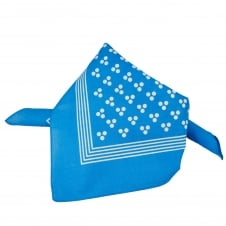 Blue With White 3-Dot & Stripes Bandana Neckerchief