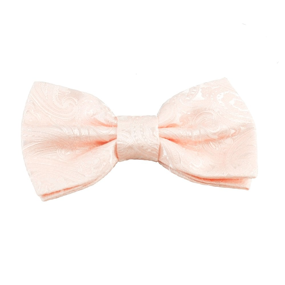 d26104402d66 Blush Pink Paisley Pattern Boys Bow Tie from Ties Planet UK