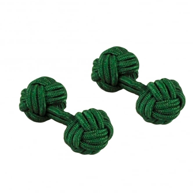 Bottle Green Elastic Knot Cufflinks