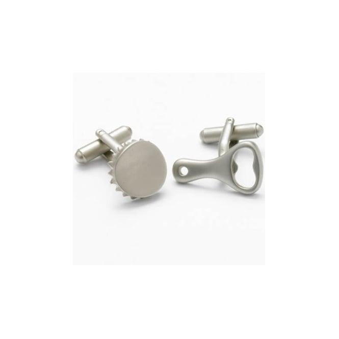 Bottle Opener & Bottle Top Novelty Cufflinks