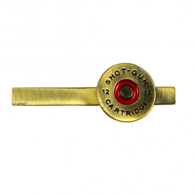 Brass Shotgun Cartridge Cap Tie Clip