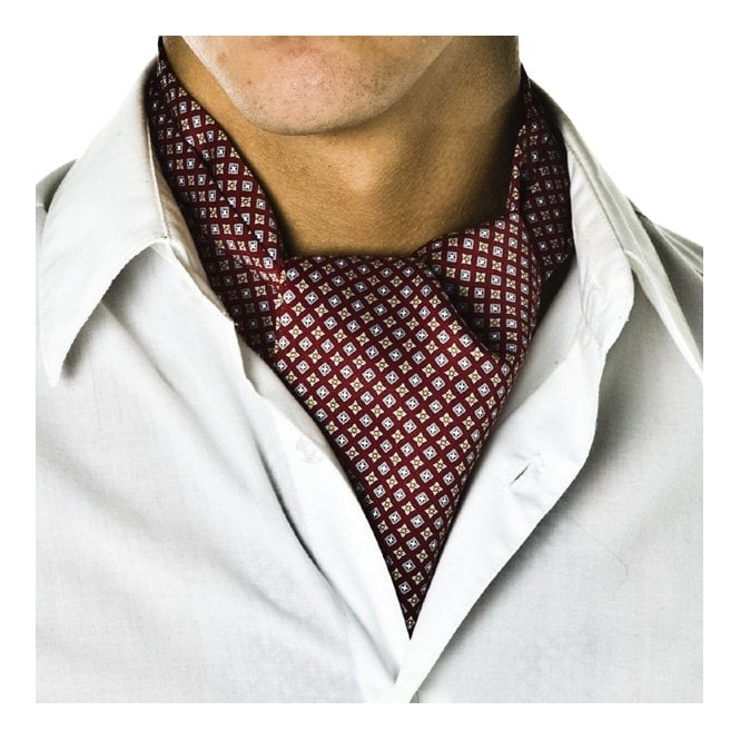 Brick Red Micro Pattern Casual Cravat From Ties Planet Uk