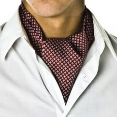 Brick Red Micro-Pattern Casual Cravat