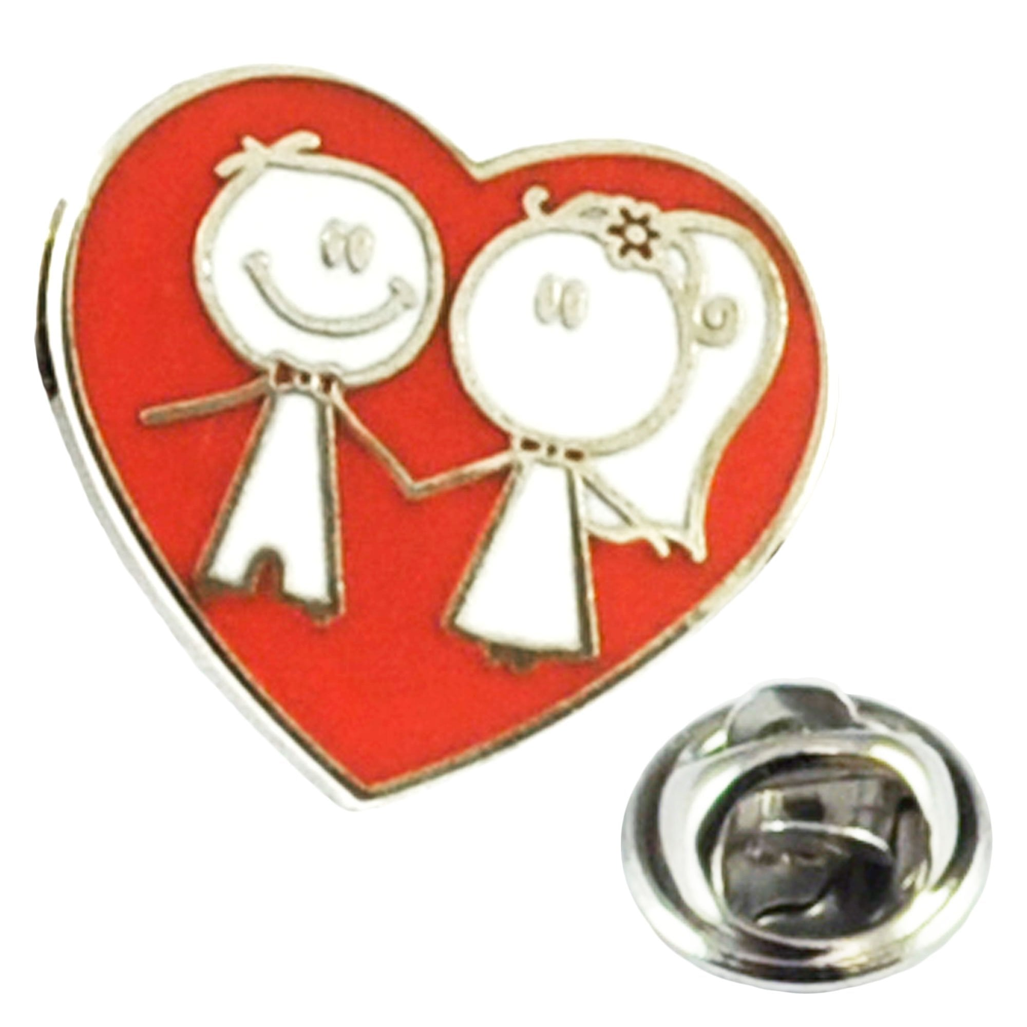 New LOVE HEART  Pin Badge