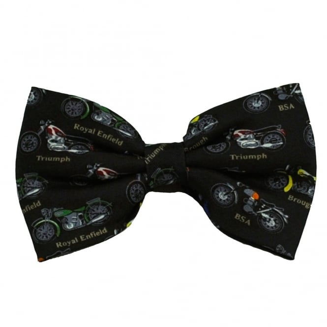 British Motorbike Silk Novelty Bow Tie