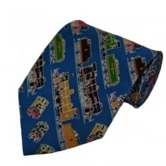 British Steam Trains Silk Novelty Tie