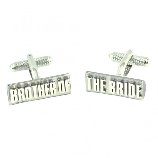 Brother of the Bride Rectangle Wedding Cufflinks