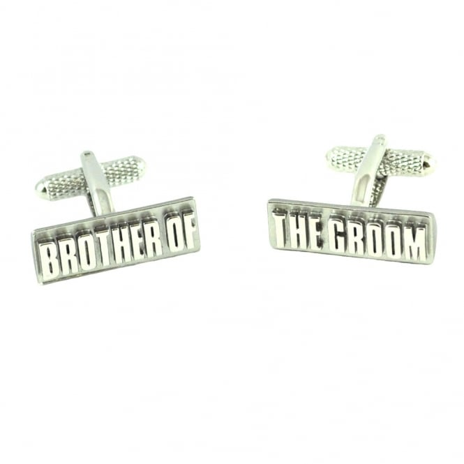 Brother of the Groom Rectangle Wedding Cufflinks