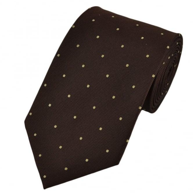 Brown Amp Beige Silk Polka Dot Tie From Ties Planet Uk