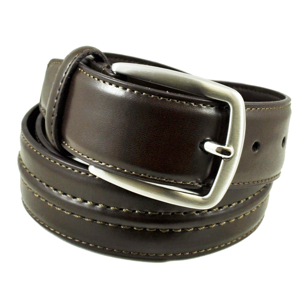 c228bb8dbeac6 Brown Stitched 35mm Men's Leather Belt from Ties Planet UK