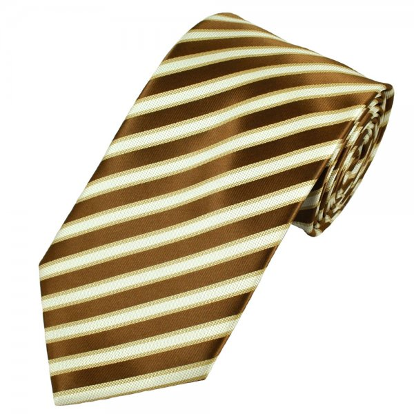 Gold and white striped tie answer matchless